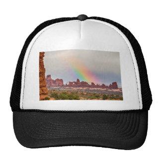 Rainbow Down Trucker Hat