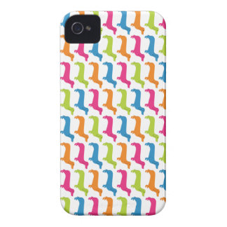 Rainbow Doxie Print iPhone 4 Cover