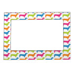 Rainbow Doxie Print Magnetic Frame