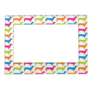 Rainbow Doxie Print Magnetic Photo Frame