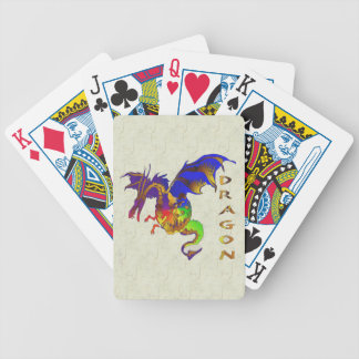Rainbow Dragon Bicycle Playing Cards