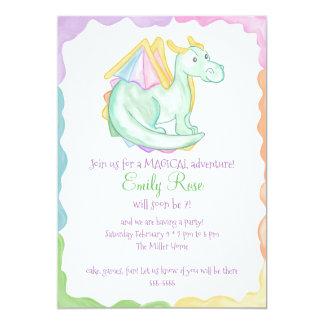 Rainbow Dragon Invitation