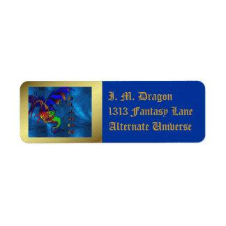 Rainbow Dragon Label