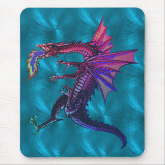 Rainbow Dragon Mouse Pad