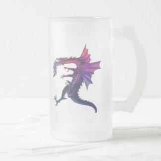 Rainbow Dragon 16 Oz Frosted Glass Beer Mug