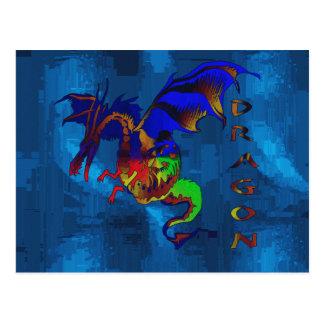 Rainbow Dragon Postcard