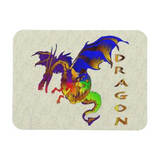 Rainbow Dragon Vinyl Magnet