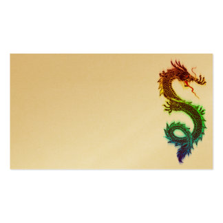Rainbow_Dragon_Vector_ RAINBOW DRAGON COLORFUL DRA Business Card Templates