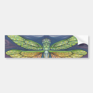 Rainbow Dragonfly Bumper Sticker Colorful Decal