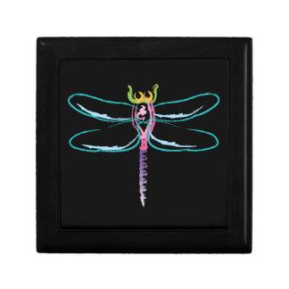 Rainbow Dragonfly Jewelry Box