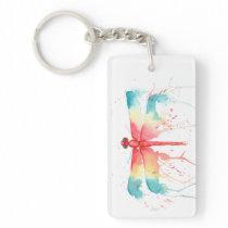 Rainbow Dragonfly Keychain