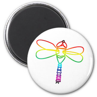 Rainbow Dragonfly Magnet