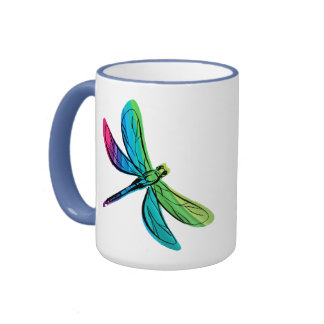 Rainbow Dragonfly Mug