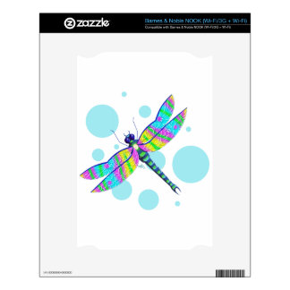Rainbow Dragonfly Skins For NOOK