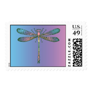 Rainbow Dragonfly Stamps