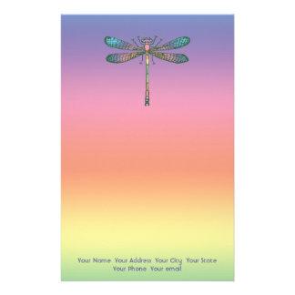 Rainbow Dragonfly Stationery