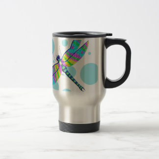 Rainbow Dragonfly Travel Mug