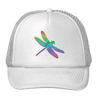 Rainbow dragonfly two trucker hat
