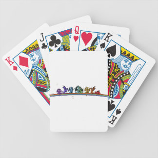 Rainbow Dragons Bicycle Playing Cards