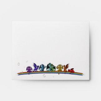 Rainbow Dragons Envelopes