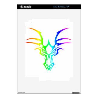 Rainbow Dragon's Head iPad 2 Decal