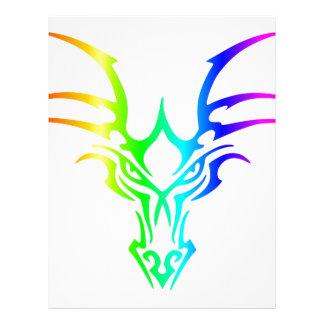 Rainbow Dragon's Head Letterhead