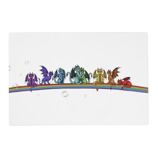 Rainbow Dragons Placemat