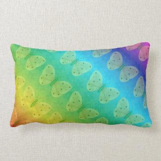 Rainbow Dreams Butterfly Daisy Lumbar Pillow