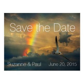 Rainbow Dreams Modern Save the Date Postcard