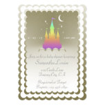 Rainbow Dreamy Castle In The Clouds Baby Shower Card