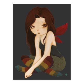 Rainbow Drear- sad fairy Postcard