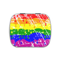 Rainbow Dripping Paint Distressed Candy Tin