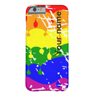 Rainbow Dripping Paint Distressed iPhone 6 Case