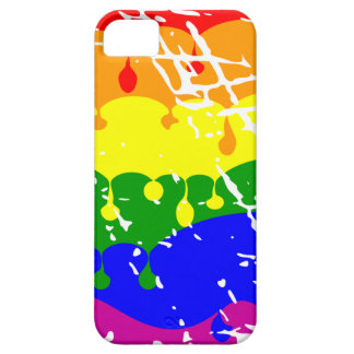 Rainbow Dripping Paint Distressed iPhone 5 Cover