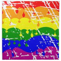 Rainbow Dripping Paint Distressed Cloth Napkin