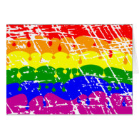 Rainbow Dripping Paint Distressed Greeting Card