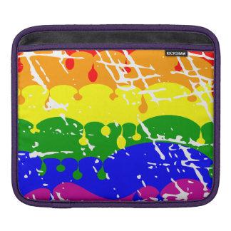 Rainbow Dripping Paint Distressed iPad Sleeve