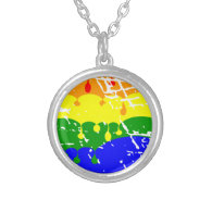 Rainbow Dripping Paint Distressed Jewelry
