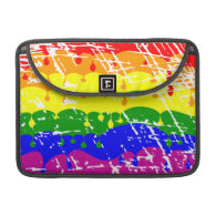 Rainbow Dripping Paint Distressed Sleeves For MacBook Pro