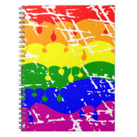 Rainbow Dripping Paint Distressed Notebooks