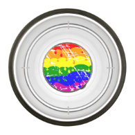 Rainbow Dripping Paint Distressed Pet Bowl