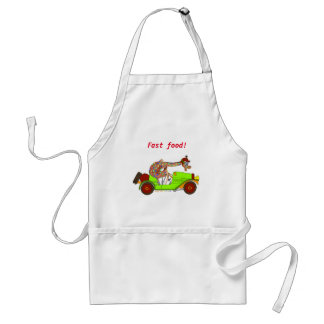 Rainbow Driving Fast Adult Apron