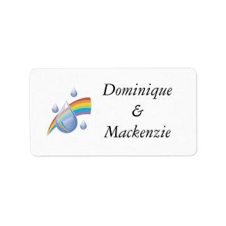 Rainbow drops address label