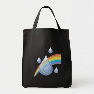 Rainbow drops canvas bag