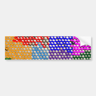 RAINBOW DROPS Colorful Dot patterns Bumper Sticker