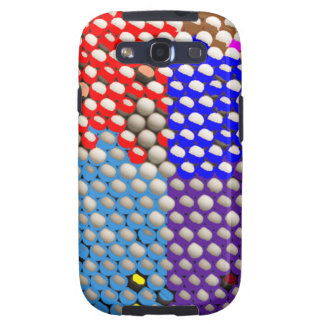 RAINBOW DROPS : Colorful Dot patterns Galaxy S3 Covers