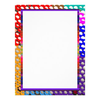 RAINBOW DROPS : Colorful Dot patterns Letterhead