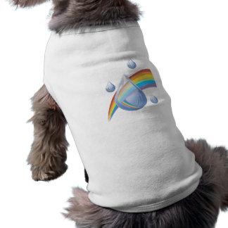Rainbow drops doggie tee