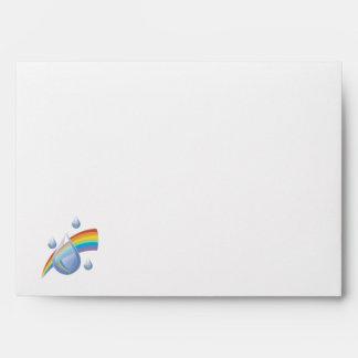 Rainbow drops envelope