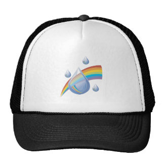 Rainbow drops hat
